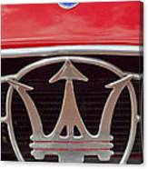 1954 Maserati A6 Gcs Emblem Canvas Print