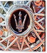 1954 Maserati A6 Gcs Wheel Rim Emblem Canvas Print