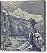 1954 Mount Aspiring New Zealand Stamp Canvas Print