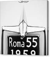 1955 Alfa Romeo 1900 Css Ghia Aigle Cabriolet Grille Emblem - Super Sprint Emblem -0601bw Canvas Print