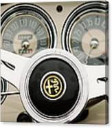 1955 Alfa-romeo 1900 Css Ghia Aigle Cabriolet Steering Wheel -2254 Canvas Print
