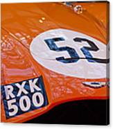 1955 Aston Martin Db3s Sports Racing Car Hood 2 Canvas Print