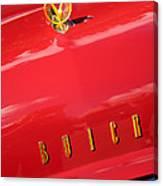 1955 Buick Roadmaster Hood Ornament - Emblem Canvas Print