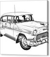 1955 Chevrolet Bel Air Illustration Canvas Print