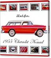 1955 Chevrolet Belair Nomad Art Canvas Print