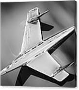 1955 Chevrolet Belair Nomad Hood Ornament -037bw Canvas Print