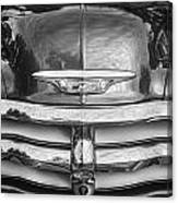 1955 Chevrolet First Series Bw Canvas Print