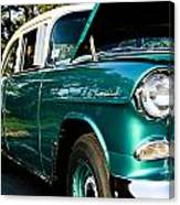 1955 Chevy Bel Air Down The Side Canvas Print