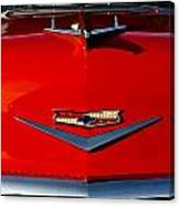 1955 Chevy Bel Air Hood Ornament Canvas Print