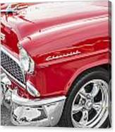 1955 Chevy Cherry Red Canvas Print