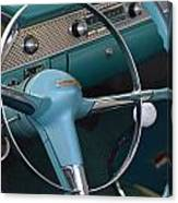 1955 Chevy Nomad Steering Wheel Canvas Print