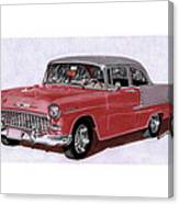 1955 Chevy Post Streeter Canvas Print