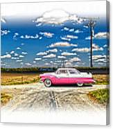 1955 Ford Crown Victoria Crossroads In Life Canvas Print