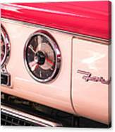 1955 Ford Crown Victoria Fordomatic Emblem Canvas Print