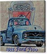 1955 Ford F100 Illustration 2 Canvas Print