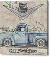 1955 Ford F100 Illustration Canvas Print
