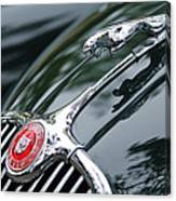 Jaguar Xk 150 Hood Ornament  Canvas Print