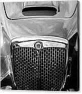 1955 Lancia Aurelia B24 Spyder America Roadster Grille -0278bw Canvas Print