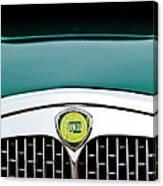 1955 Lancia Aurelia B24 Spyder America Roadster Grille Emblem Canvas Print