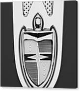 1955 Lincoln Indianapolis Boano Coupe  Emblem -0283bw Canvas Print