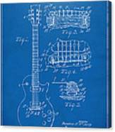 1955 Mccarty Gibson Les Paul Guitar Patent Artwork Blueprint Canvas Print