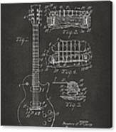 1955 Mccarty Gibson Les Paul Guitar Patent Artwork - Gray Canvas Print
