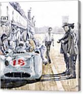 1955 Mercedes Benz W 196 Str Stirling Moss Italian Gp Monza Canvas Print