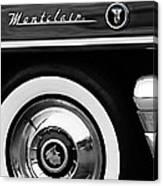 1955 Mercury Montclair Convertible Wheel Emblem Canvas Print