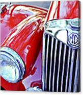 1955 Mg Tf 1500 Grille Canvas Print