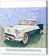1955 Oldsmobile Holiday 88 Canvas Print