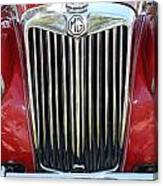 1955 Red Mg Grille Canvas Print