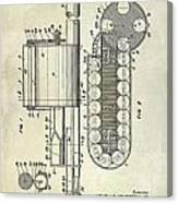 1955 Rocket Launcher Patent Drawing Canvas Print