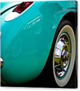 1956 Baby Blue Chevy Corvette Canvas Print