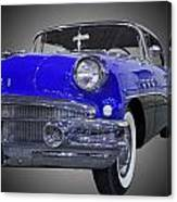 1956 Buick Special Riviera Coupe-blue Canvas Print
