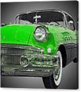 1956 Buick Special Riviera Coupe-green Canvas Print