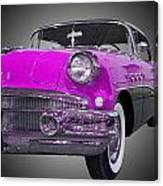 1956 Buick Special Riviera Coupe-purple Canvas Print