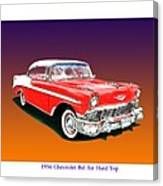 1956 Chevrolet Bel Air Ht Canvas Print