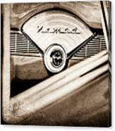 1956 Chevrolet Belair Nomad Dashboard Emblem Canvas Print