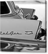 1956 Chevrolet Belair Nomad Rear End Emblem Canvas Print