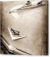 1956 Chevrolet Hood Ornament - Emblem Canvas Print