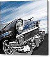 1956 Chevrolet With Blue Skies Canvas Print