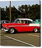 1956 Chevy Bel Air Red And White Canvas Print