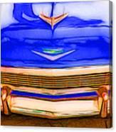 1956 Chevy - Blue Canvas Print