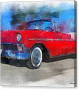 1956 Chevy Car Photo Art 01 Canvas Print