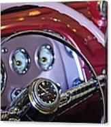 1956 Desoto Fireflite Convertible Steering Wheel Clock Canvas Print