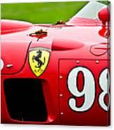 1956 Ferrari 410 Sport Scaglietti Spyder Canvas Print