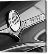 1956 Ford F-100 Pickup Truck Emblem Canvas Print