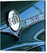 1956 Ford F-100 Truck Emblem Canvas Print