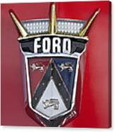 1956 Ford Fairlane Emblem Canvas Print