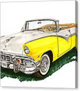 Ford Sunliner Convertible Canvas Print